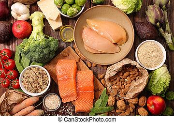 mezclado, alimento, salud
