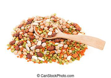 mezclado, legumbres