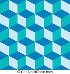 mezclado, patrón, azul, psicodélico