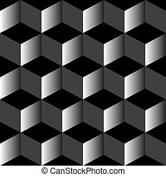 mezclado, patrón, negro, psicodélico