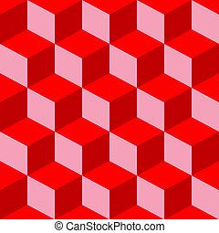 mezclado, patrón, psicodélico, rojo