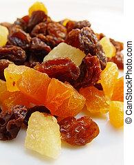 mezclado, secado, fruits