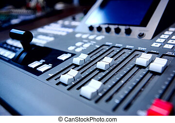 mezclar, audio, consola, controles