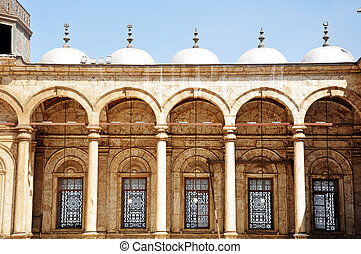 mezník, o, jeden, syřan, mešita