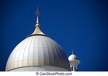mezquita, cúpula, minarete