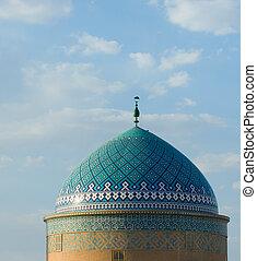 mezquita, en, un, antiguo, ciudad, de, yazd