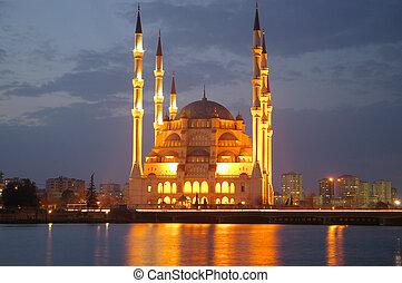 mezquita, noche