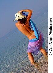 meztelen woman, noha, kalap