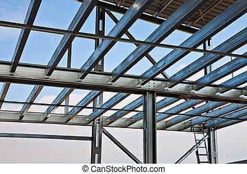 Mezzanine girders - Zinc steel structure of light floor