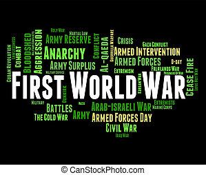 mezzi, azione, militare, battaglia, mondo, guerra, primo