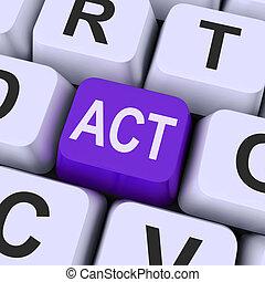 mezzi, eseguire, recitazione, chiave, atto, o