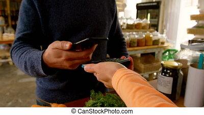 mezzo, 4k, supermercato, sezione, pagamento, cliente,...