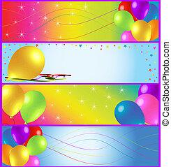 mezzo, bandiera, compleanno, annunci