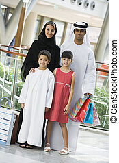 mezzo, centro commerciale, shopping, famiglia, orientale