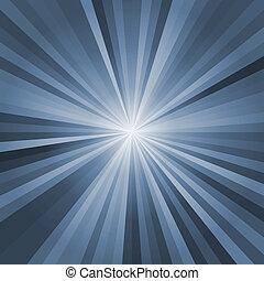 mezzo, raggi luminosi, fondale, scoppio