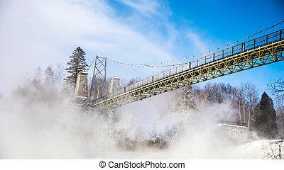 mgła, most