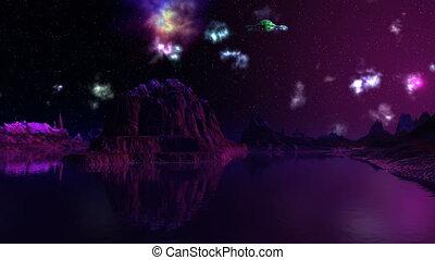 mgławica, ufo, dreamscape