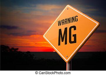 mg, figyelmeztetés, cégtábla., út