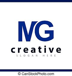 mg initial letter logo vector template