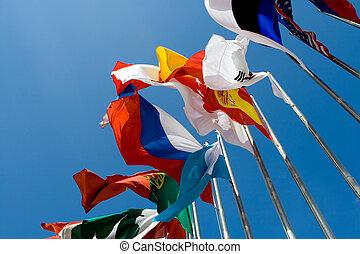 międzynarodowe bandery
