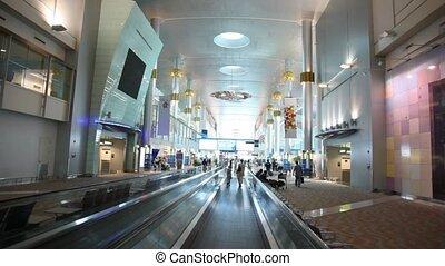 międzynarodowy, dubai, dubai, lotnisko, uae.