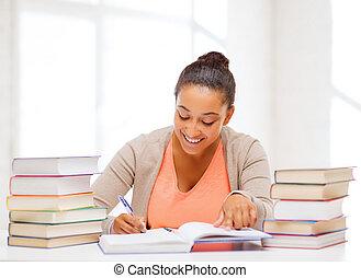 międzynarodowy, kolegium student, badając