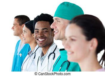 międzynarodowy, medyczny, grupa, reputacja, razem