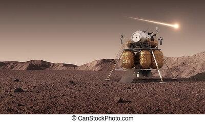 międzyplanetarny, planeta, stacja, chińczyk, przestrzeń, ...