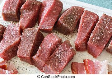 mięso, kawałki