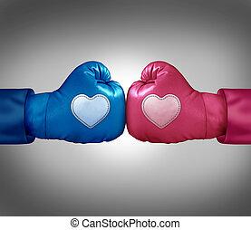 miłość, bojowy