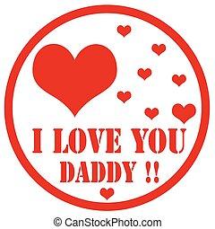 miłość, daddy!-stamp, ty
