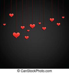 miłość, dzień, tło, valentine