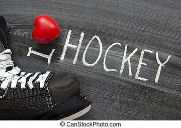 miłość, hokej