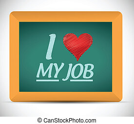 miłość, ilustracja, praca, projektować, wiadomość, mój
