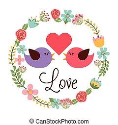 miłość, kartka pocztowa