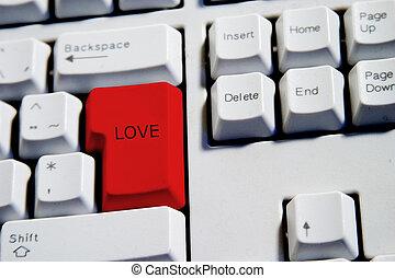 miłość, klucz, wejść