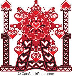miłość, koło, ferris