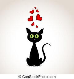 miłość, kot