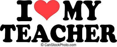 miłość, mój, nauczyciel