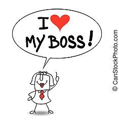 miłość, mój, szef