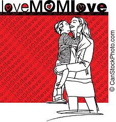 miłość, mamusia