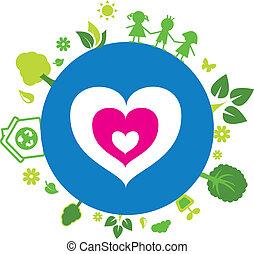 miłość, nasz, ziemia