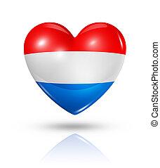 miłość, niderlandy, serce, bandera, ikona