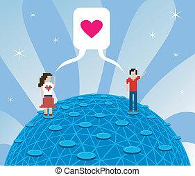 miłość, online