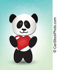 miłość, panda