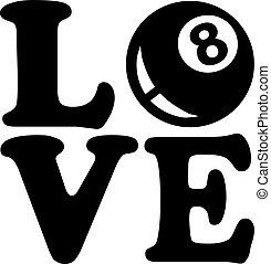 miłość, piłka, osiem, kałuża