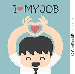 miłość, praca, mój