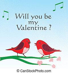 miłość ptaszki, valentine