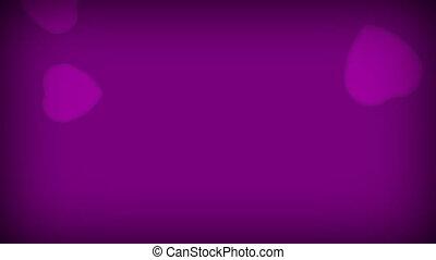 miłość, purpurowy, serca