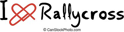 miłość, rallycross, ikona